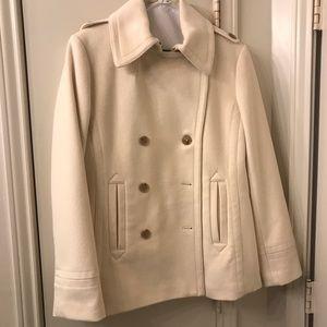 J. Crew cream pea coat